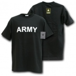 Rapid Dominance S25 Classic Military T-Shirts: Black, Army Text