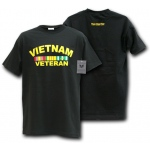 Rapid Dominance S25 Classic Military T-Shirts: Black, Vietnam Veteran