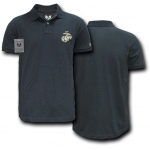 Rapid Dominance S20 Military Polo Shirt: Black, Marines
