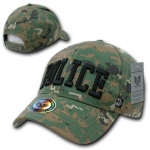Rapid Dominance 943 Marine Digital Military/Law Caps: Woodland, Police