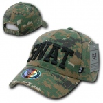 Rapid Dominance 943 Marine Digital Military/Law Caps: Woodland, Swat