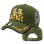 Rapid Dominance JW Embroidered Delux Law Enforcement Caps: Olive, Border Patrol