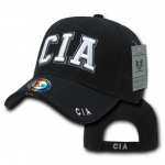 Rapid Dominance JW Embroidered Delux Law Enforcement Caps: Black, CIA