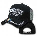 Rapid Dominance JW Embroidered Delux Law Enforcement Caps: Black, Narcotics