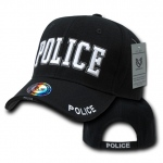 Rapid Dominance JW Embroidered Delux Law Enforcement Caps: Black, Police