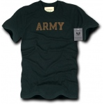 Rapid Dominance R57 Felt Applique Military Law T-Shirt: Black, Army