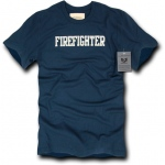 Rapid Dominance R57 Felt Applique Military Law T-Shirt: Navy, Firefighter