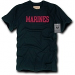 Rapid Dominance R57 Felt Applique Military Law T-Shirt: Black, Marines