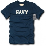 Rapid Dominance R57 Felt Applique Military Law T-Shirt: Navy, Navy, XL