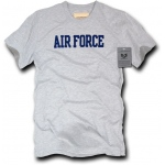 Rapid Dominance R54 Felt Applique Military T-Shirts: Heather Grey, Air Force