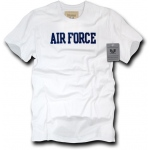 Rapid Dominance R54 Felt Applique Military T-Shirts: White, Air Force