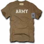Rapid Dominance R54 Felt Applique Military T-Shirts: Army Brown, Army