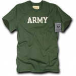 Rapid Dominance R54 Felt Applique Military T-Shirts: Olive, Army