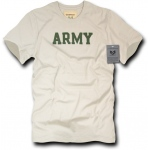 Rapid Dominance R54 Felt Applique Military T-Shirts: Sand, Army