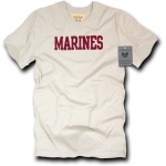 Rapid Dominance R54 Felt Applique Military T-Shirts: Sand, Marines