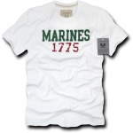 Rapid Dominance R52 Applique Military T-Shirts: White, Marines