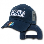 Rapid Dominance R21 Giant Stitch Military Polo Caps: Navy, USAF