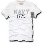Rapid Dominance R52 Applique Military T-Shirts: White, Navy