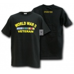 Rapid Dominance R25 Military T-Shirts Tees: Black, WWII Vet