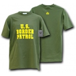 Rapid Dominance J25 Law Enforcement T-Shirts Tees: Olive, Border Patrol