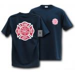 Rapid Dominance J25 Law Enforcement T-Shirts Tees: Navy, Fire Department