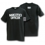 Rapid Dominance J25 Law Enforcement T-Shirts Tees: Black, Narcotics Officer