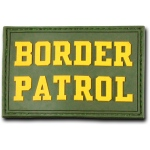 "Rapid Dominance T90 Tactical Rubber Patches: Olive, Border Patrol, 3"" x 2"""