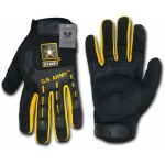 Rapid Dominance U02 Molded Knuckle Mechanic's Gloves: Black, Army