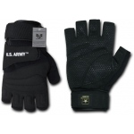 Rapid Dominance U03 Half Finger Gloves: Black, Army
