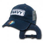 Rapid Dominance R21 Giant Stitch Military Polo Caps: Navy, Navy