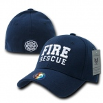 Rapid Dominance R82 Military/Law Flex Baseball Caps: Navy, Fire Rescue
