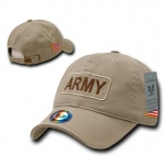 Rapid Dominance R89 Dual Flag Raid Caps: Khaki, Army
