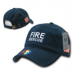 Rapid Dominance R89 Dual Flag Raid Caps: Navy, Fire Rescue