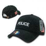 Rapid Dominance R89 Dual Flag Raid Caps: Black, Police