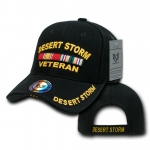 Rapid Dominance RD Embroidered Deluxe Military Baseball Cap: Black, DSV