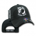Rapid Dominance RD7 Shadow Military Baseball Caps: Black, POW*MIA