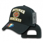 Rapid Dominance RET Retired Military Baseball Caps: Black, Marines
