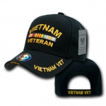 Rapid Dominance S001 The Legend Military Branch Cap: Black, Vitenam Vet