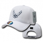 Rapid Dominance S002 Air Mesh Military Caps: White, Air Force Wings