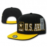 Rapid Dominance S005 D-Day Military Caps: Black/Gold, Army