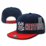 Rapid Dominance S005 D-Day Military Caps: Navy/Red, Coast Guard