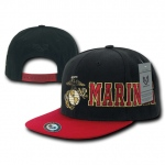 Rapid Dominance S005 D-Day Military Caps: Black/Red, Marines