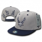 Rapid Dominance S006 Jumbo Back Military Caps: Grey/Navy, Air Force