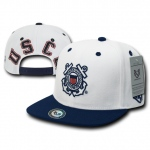 Rapid Dominance S006 Jumbo Back Military Caps: White/Navy, Coast Guard