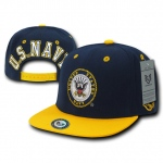 Rapid Dominance S006 Jumbo Back Military Caps: Navy/Gold, US Navy