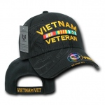 Rapid Dominance S007 Shadow Military Baseball Caps: Black, Vietnam Vet