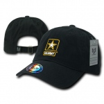 Rapid Dominance S008 The Lieutenant Military Caps: Black, Army Star