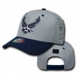 Rapid Dominance S015 Workout Branch Caps: Grey / Navy, Air Force