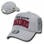 Rapid Dominance S016 Heather Grey Military Caps: Marines