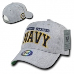 Rapid Dominance S016 Heather Grey Military Caps: Navy